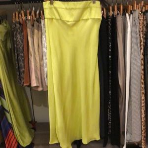 Free People Lime side zip skirt